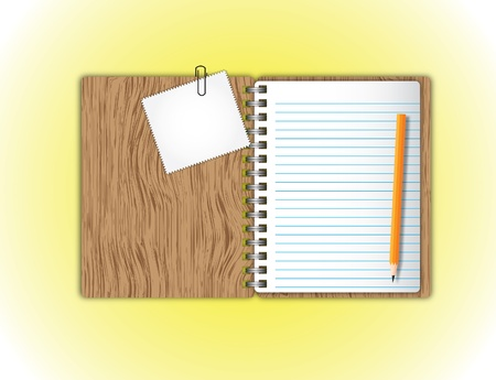 New paper page and pad,paper clip with pencil Stock Photo - 13041926