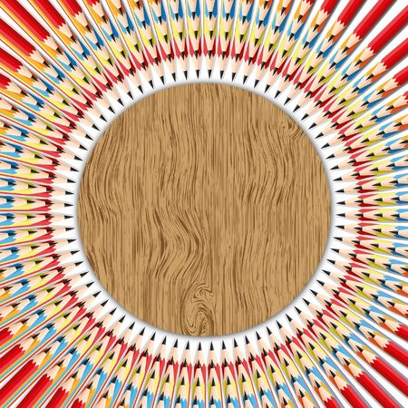 Abstract texture background with circle pencil patterns