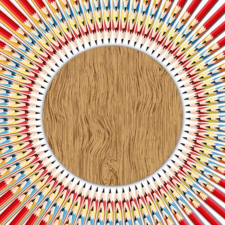 juguetes de madera: Textura de fondo abstracto con patrones circulares a lápiz Foto de archivo