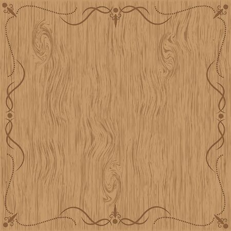 Wooden texture with frame patterns  Stock Photo
