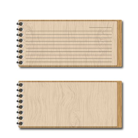 New pattern wooden pocketbook and lines papers   Stockfoto