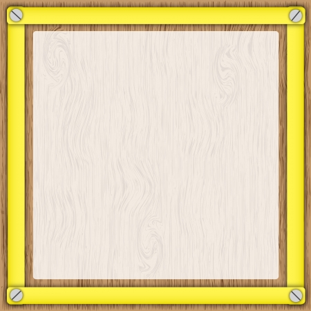 Wooden board and  tracing paper in yellow frame