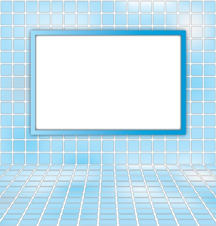 white board on blue sky abstract background  photo