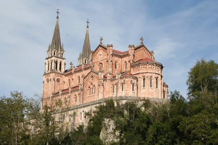 Basilique de Santa Maria la Real de Covadonga Banque d'images - 11218864