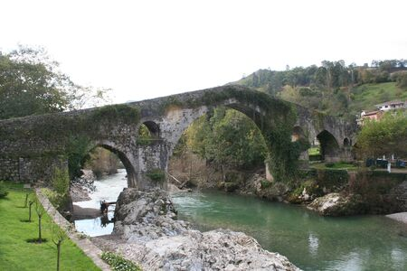 old or roman bridge cangas de onis