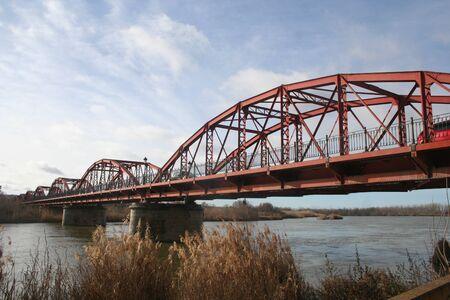 talavera de la reina: hierrro bridge, river tagus talavera de la reina, toledo