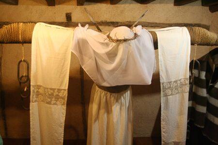 holy thursday: Empalaos ritual celebration, Valverde de la Vera, C�ceres Stock Photo