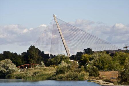 Cable-stayed bridge over the River Tajo, Talavera, Toledo photo