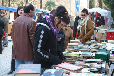 talavera: medieval market of st. jerome, talavera, toledo