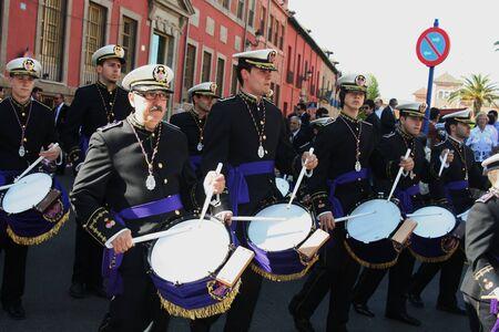 fiesta popular:     Holy Week processions of Talavera - Spain - 2011 music band, Nazarenes,  Editorial