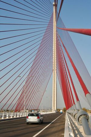 diurno: Talavera, cable-stayed bridge over the River Tajo