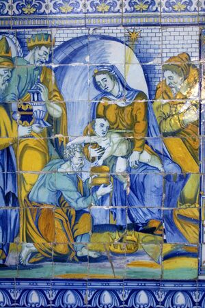 The Adoration of the Magi, Talavera Ceramic