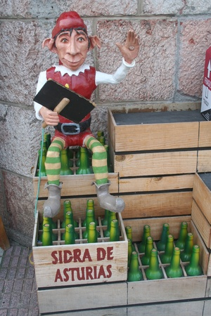 diurno: The Trasgu, goblin or gnome, announcing Cider Asturias