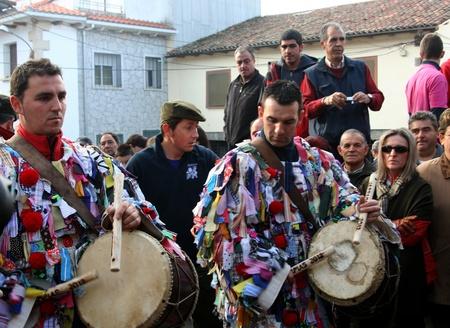 fiesta popular: Party, Party Jarramplas, The Piornal, Cceres, Extremadura, 2012 Editorial