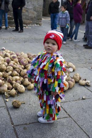 fiestas: Party, Party Jarramplas, The Piornal, Cceres, Extremadura, 2012 Editorial