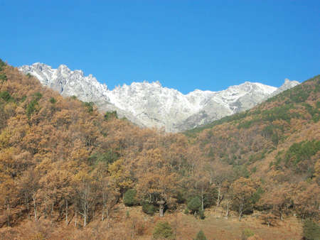 avila:  Monta�a nevadas, Sierra de Gredos, Avila Stock Photo