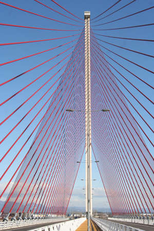talavera de la reina: Pylon height of 185 meters from Cable-Stayed Bridge largest of Spain