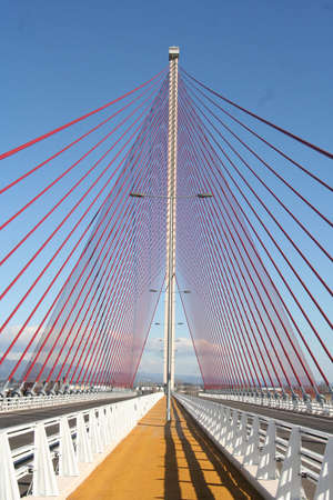 Pilino and Cable-Stayed Bridge suspenders largest of Spain