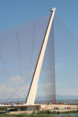 talavera de la reina: Pylon height of 185 Medros Cable-Stayed Bridge largest of Spain
