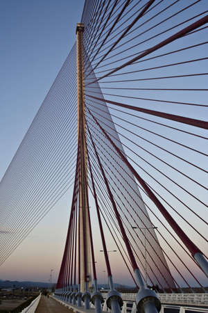 talavera de la reina: The cable-stayed bridge Talavera de la Reina, a construction a height of 185 meters Stock Photo