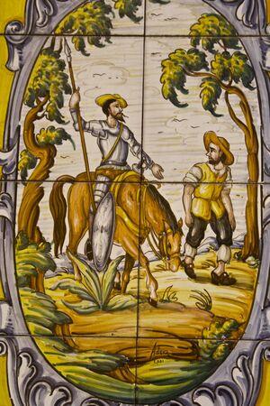 talavera:  Quixote, Tile, Talavera Pottery
