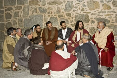 Jesus and apostles, The Passion, El Real de San Vicente, Spain April 2012