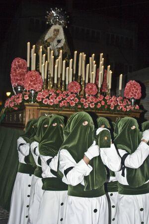 holy thursday: Viegen of Sorrows, Holy Thursday procession, Talavera