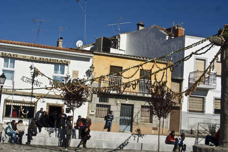 easter sunday:  Easter Sunday, hanging strings of egg shells, Montesclaros, Toledo