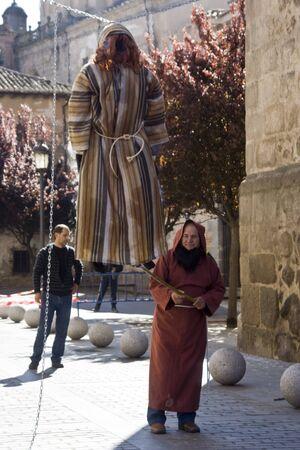 easter sunday: Burning of Judas,  Easter Sunday, Talavera, Toledo
