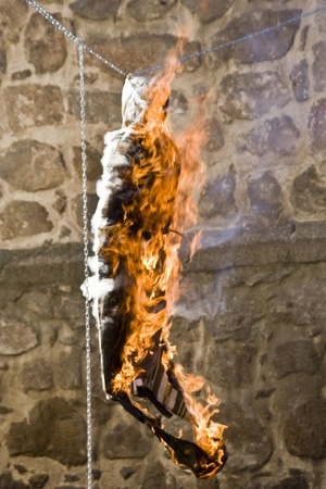 Burning of Judas,  Easter Sunday, Talavera, Toledo