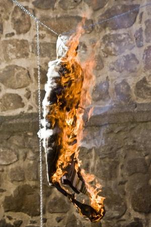 talavera: Burning of Judas,  Easter Sunday, Talavera, Toledo