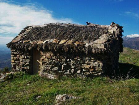 animal private:  Hut for livestock in La Vera, Avila, Spain