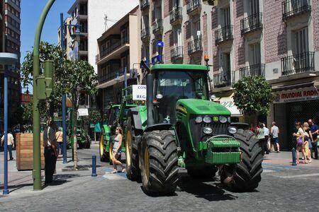 talavera de la reina: Demonstration in Talavera against log shipping of the Tagus