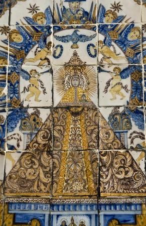 talavera: Virgen del Prado, Ceramic Tile,Talavera