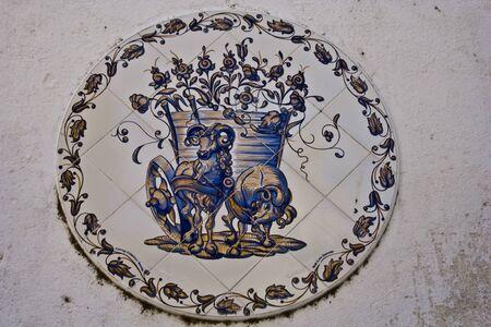 talavera de la reina: Modas, Ceramic Tile Panel of Talavera