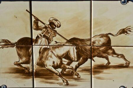 Talavera Ceramic Tiles,  bulls