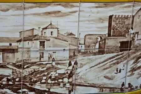 talavera: Talavera Ceramics, Tiles, typical picture, Old, Antique Editorial