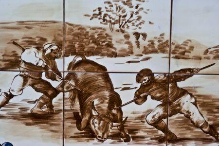 Talavera Ceramic Tiles,  bulls, bullfighters