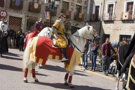Knights on Horseback, Medieval festivals Oropesa, Toledo, 220420112