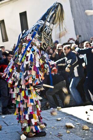 traditional festivals: Las fiestas tradicionales, Jarramplas Piornal, C�ceres, la, Extremadura, Espa�a.