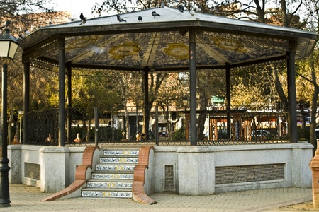 bandstand: Temple of music, Bandstand in the Jardines del Prado, Talavera