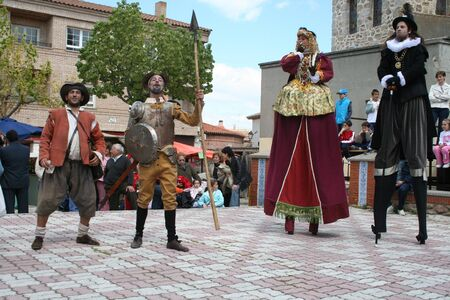 fiesta popular: Quixote, Medieval Days Oropesa, Toledo