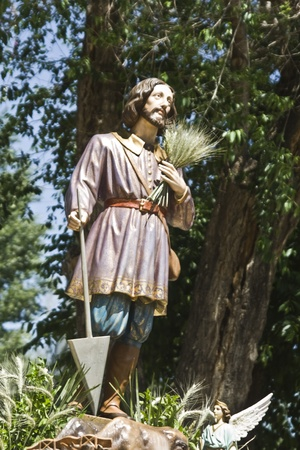 san isidro: Image of San Isidro Labrador, Talavera 05152012