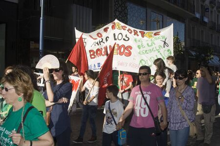 manifestation: manifestation against the cuts in Education, Spain  22052012 Editorial