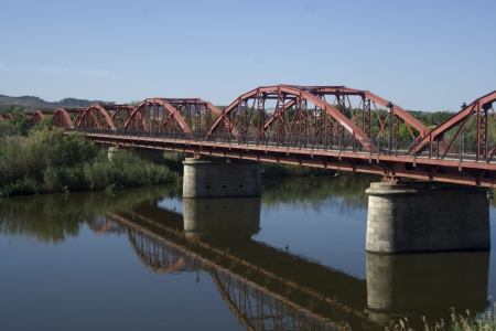 Landscape, Bridge, Queen Sofia, river Tajo, Talavera