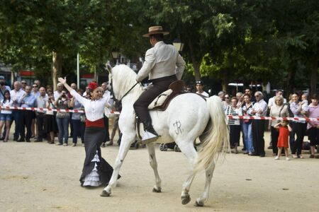 talavera: Dance Festival city of Talavera, Dance Equestrian, 30052012 Editorial