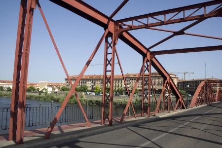 talavera de la reina:  Structure of the Iron Bridge of Talavera