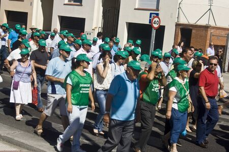 talavera: Manifestation in Talavera, not irrigate with water from the Tajo 14072012