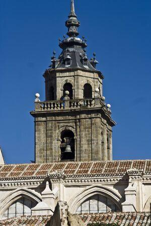 talavera de la reina: Tower of Collegiate Talavera Stock Photo