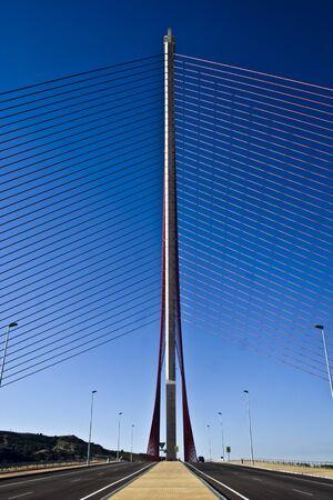 The cable-stayed bridge Talavera,